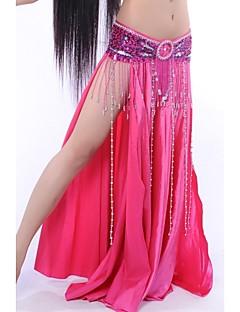 ריקוד בטן חצאיות בגדי ריקוד נשים ביצועים סאטן אלסטי דמוי משי טבעי