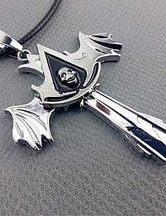 cheap -Jewelry Inspired by Assassin's Creed Cosplay Anime/ Video Games Cosplay Accessories Necklace Silver Alloy Male