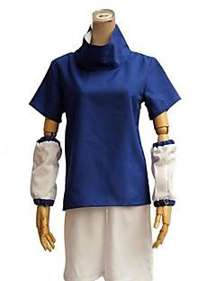 """Inspirert av Naruto Sasuke Uchiha Anime  """"Cosplay-kostymer"""" Cosplay Klær Fargeblokk Kortermet Topp Shorts Til Mann"""