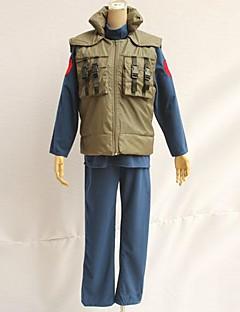 """billige Anime Kostymer-Inspirert av Naruto Hatake Kakashi Anime  """"Cosplay-kostymer"""" Cosplay Topper / Underdele Lapper Ermeløs Vest Til Herre Halloween-kostymer"""