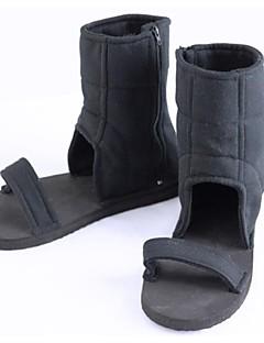 baratos Sapatos Cosplay Anime-Sapatos de Cosplay Naruto Fantasias Anime Sapatos de Cosplay Poliéster Unisexo