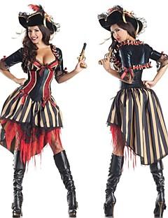 billige Voksenkostymer-Pirat Cosplay Kostumer Dame Halloween / Karneval / Nytt År Festival / høytid Halloween-kostymer Lapper