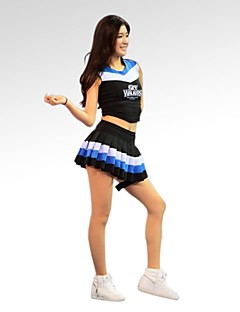 cheap Cheerleader Costumes-Cheerleader Costumes Outfits Women's Training Performance Cotton Polyester Sleeveless Natural