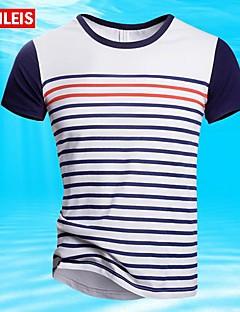 T-Shirts - MEN Neformalan/Veći brojevi Plav , Pamuk )