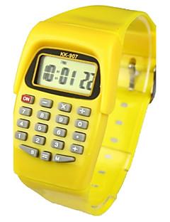 billige Børneure-Børne Modeur Digital Watch Japansk Quartz Digital Gul 30 m Kalender Afslappet Ur Digital Damer Slik - Gul To år Batteri Levetid