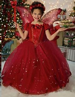 Mädchen Kleid einfarbig Baumwolle Ganzjährig Kurzarm
