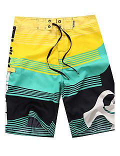 billige Herrebukser og -shorts-Herre Blomster Rød Grønn Blå Nederdeler Badetøy - Ruter Trykt mønster M L XL