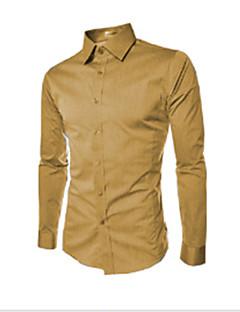 8a157d9c6d9 Pánské - Jednobarevné Práce Business Větší velikosti Košile Klasický límeček    Dlouhý rukáv   Jaro   Podzim