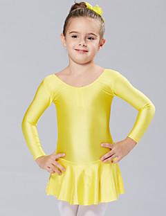 tanie Stroje baletowe-Balet Suknie Sukienki i spódnice Tutus i spódnice Szkolenie Wydajność Spandeks Długi rękaw Księżniczka Ubierać