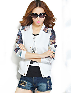 Women's Blue/White/Black/Green Jackets , Casual Long Sleeve