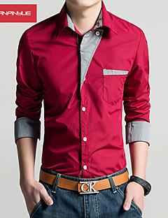 MANWAN WALK®Men's Casual Slim Fit Formal Shirt,Fashion Dress Long Sleeve Shirt
