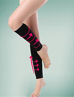 男女兼用 ノースリーブ ビデオ圧縮 靴下 コンプレッションソックス のために ヨガ キャンピング&ハイキング エクササイズ&フィットネス レジャースポーツ サイクリング/バイク スパンデックス エラステイン ナイロン