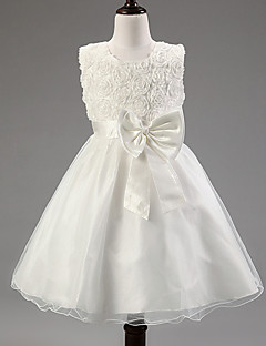 Kız Solid Yaz Kolsuz Elbise