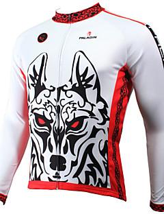 ILPALADINO Jerseu Cycling Pentru bărbați Mânecă Lungă Bicicletă Jerseu TopuriUscare rapidă Rezistent la Ultraviolete Respirabil Compresie
