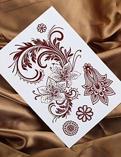 2016 új 4db divat indiai henna tetoválás mendhi festmény tetoválás ideiglenes tetoválás matrica
