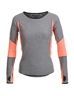 Women's Running T-Shirt Long Sleeves Quick Dry Moisture Permeability Breathable Sweat-wicking T-shirt Top for Yoga Pilates Exercise &