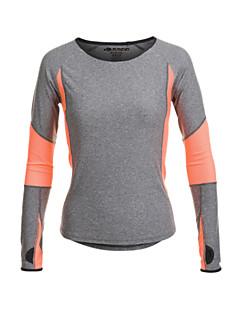 Mulheres Camiseta de Corrida Manga Longa Secagem Rápida Permeável á Humidade Respirável Redutor de Suor Camiseta Blusas para Ioga Pilates