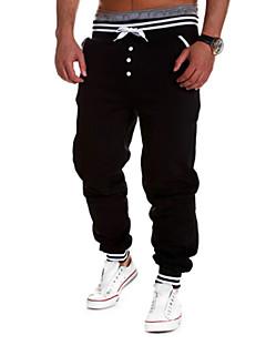 A bărbaților Pantaloni Drăguți Bumbac / Elastic Print Casual / Formal / Sport Negru / Albastru / Alb / Gri