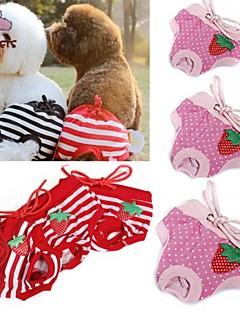 billiga Hundkläder-Katt Hund Byxor Hundkläder Prickig Rosett Röd Rosa Cotton Kostym För husdjur Cosplay Bröllop