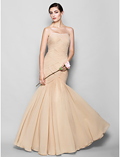 Fit & Flare Sweetheart Floor Length Chiffon Bridesmaid Dress with Criss Cross by LAN TING BRIDE®