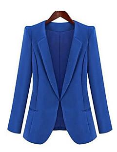 Women's Work Simple Spring Fall Blazer,Solid Notch Lapel Long Sleeve Regular