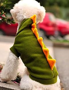 billiga Hundkläder-Katt / Hund Dräkter / Kostymer / Huvtröjor / Outfits Hundkläder Djur / Tecknat Grön Polär Ull Kostym För husdjur Cosplay / Bröllop / Halloween