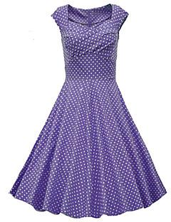 Χαμηλού Κόστους Polka Dot Dresses-Γυναικεία Κομψό & Μοντέρνο Γραμμή Α Φόρεμα Μοντέρνο Στυλ Πουά