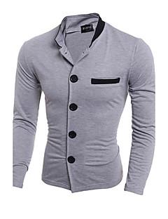 Herren Solide Blazer, andere langarm schwarz / grau shirt