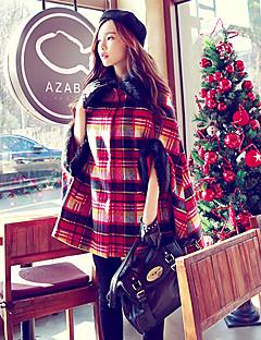 Dames Winter Herfst Cloak / Capes,Feest Dagelijks Causaal Wol Imitatiebont Acryl Polyester Spandex