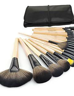 billige Sminkebørstesett-Makeup børster Profesjonell Børstesett / Rougebørste / Øyenskyggebørste Nylon Børste Bærbar / Reisen / Økovennlig Tre Middels børste