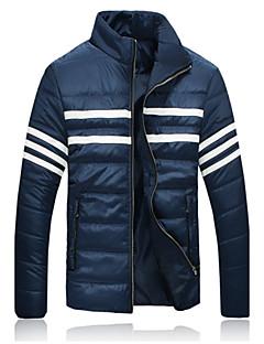 preiswerte Überbekleidung-Informell Ständer - Langarm - MEN - Mäntel & Jacken (Baumwolle / Baumwoll Mischung)