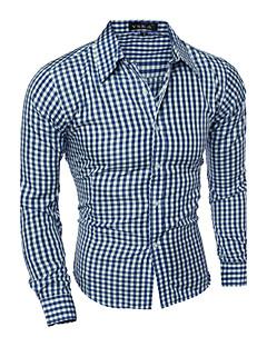 billige Herremote og klær-Bomull Skjorte Herre - Ruter Fritid / Langermet