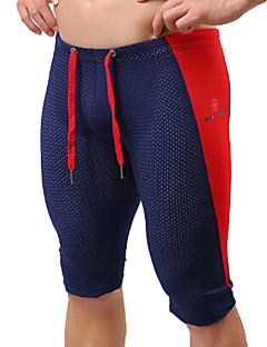 billiga Träning-, jogging- och yogakläder-Herr Lappverk Joggingshorts - Gul, Blå, Mörkgrön sporter Mode Shorts / Cykling Tights / Leggings Sportkläder Andningsfunktion, Mjukhet