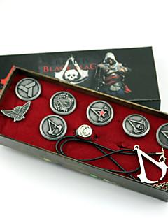 Smykker Inspirert av Assassin's Creed Connor Anime / Videospil Cosplay Tilbehør Halskjede / Emblem / Brosje Sølv Legering Mann