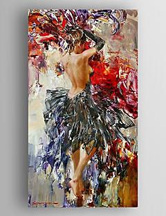 baratos Retratos Abstratos-pintura a óleo de uma lona pintada mulher impressão mão esticada com emoldurado