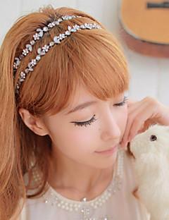 Women Zircon Flower Crystal Leaf Hair Band Hair Rope Hair Accessories