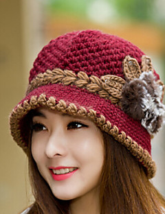 cheap Fashion Hats-Women's Wool Cotton Beret Hat,Vintage Cute Party Work Casual Solid Winter Purple Red Pink Wine Khaki