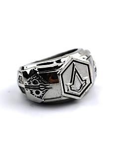 Korut Innoittamana Assassin's Creed Connor Anime/Video Pelit Cosplay-Tarvikkeet Ring Hopea Metalliseos Uros