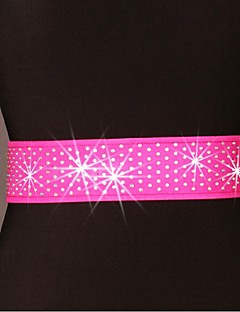 cheap Dance Accessories-Latin Dance Belt Women's Training Performance Polyester Paillette Belt