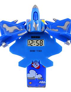 子供用 ファッションウォッチ ブレスレットウォッチ デジタル LED PU バンド ブルー レッド グリーン