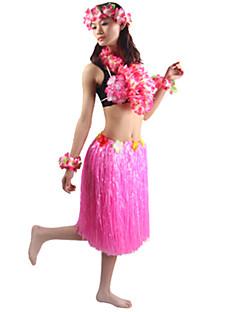 billige Halloweenkostymer-Hawaiisk Cosplay Kostumer Party-kostyme Herre Dame Halloween Karneval Festival / høytid Halloween-kostymer Drakter Grønn / Blå / Regnbue Ensfarget