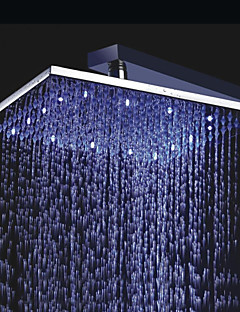 Led Shower Heads Contemporary Rain Chrome Feature Rainfall Head