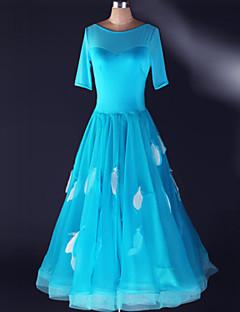 Ballroom-dans Kjoler Dame Yteevne Spandex Drapert 1 Deler Kjoler S-4XL:125cm