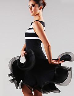 billige Nyheter-Latin Dans Kjoler Dame Yteevne Spandex Drapert 1 Deler Kjole