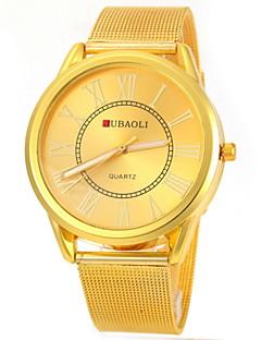 billige Høj kvalitet-JUBAOLI Herre Quartz Armbåndsur Afslappet Ur Rustfrit stål Bånd Vedhæng Guld