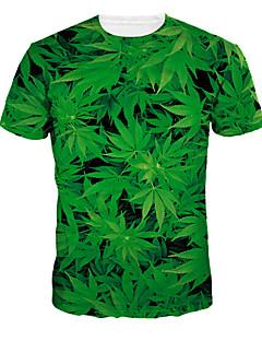 A bărbaților Tricouri Poliester Print Casual Manșon Scurt-Verde