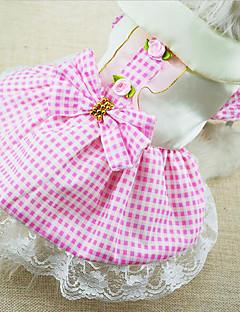 犬 ドレス 犬用ウェア ファッション 格子柄 レッド ブルー ピンク