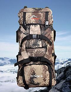 billiga Ryggsäckar och väskor-80L Ryggsäckar / Ryggsäck / ryggsäck - Bärbar, Slirsäker, Multifunktionell Camping, Fritid Sport, Resa Duk Armégrön, Khaki grön, ljusgrön