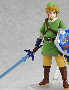 billige Anime cosplay-Anime Action Figurer Inspirert av The Legend of Zelda Link PVC 14 cm CM Modell Leker Dukke