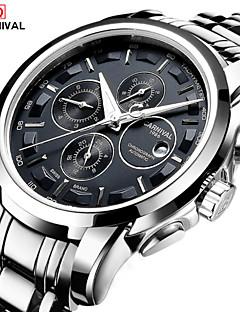 Χαμηλού Κόστους Brand Watches-Carnival Ανδρικά Αυτόματο κούρδισμα Ρολόι Καρπού Hot Πώληση Ανοξείδωτο Ατσάλι Μπάντα Φυλαχτό Μοντέρνα Λευκή